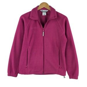 COLUMBIA | Pink Fleece Zip Up Jacket